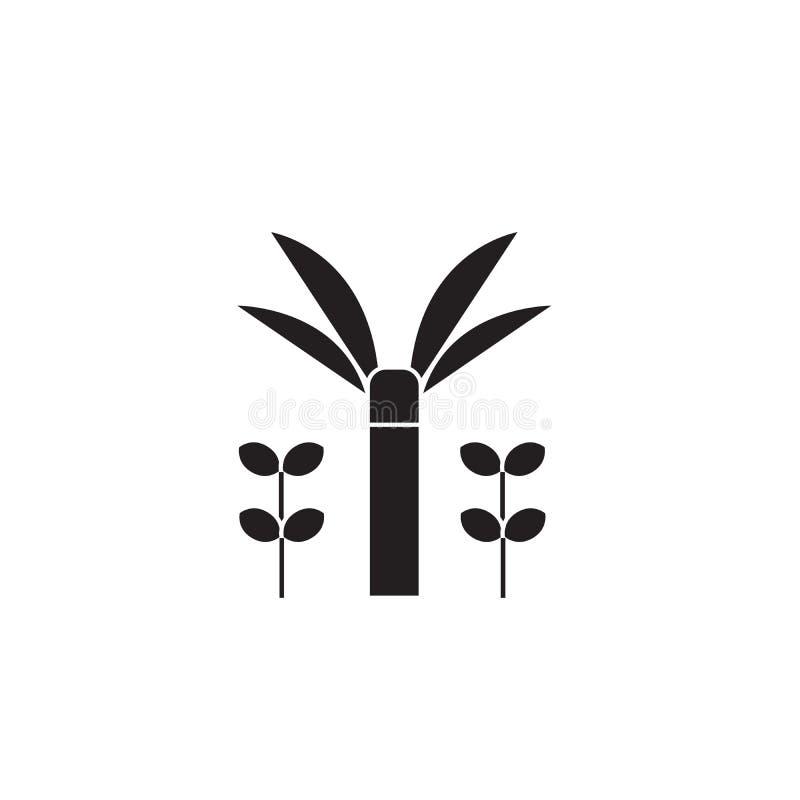 Icône de concept de vecteur de noir d'arroseuse de jardin Illustration plate d'arroseuse de jardin, signe illustration libre de droits