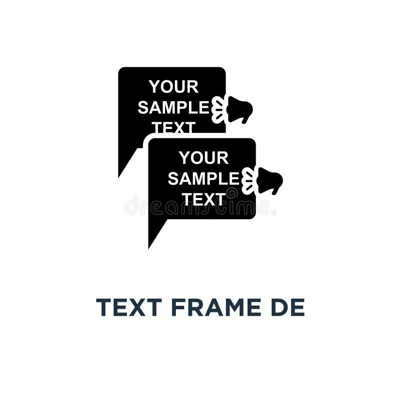 Icône de conception de cadre des textes Illustration simple d'élément Cadre des textes illustration de vecteur