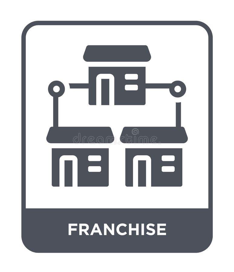 icône de concession dans le style à la mode de conception icône de concession d'isolement sur le fond blanc appartement simple et illustration libre de droits