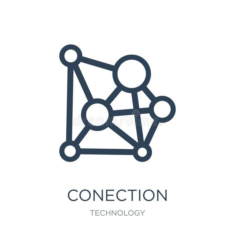 icône de conection dans le style à la mode de conception icône de conection d'isolement sur le fond blanc appartement simple et m illustration de vecteur