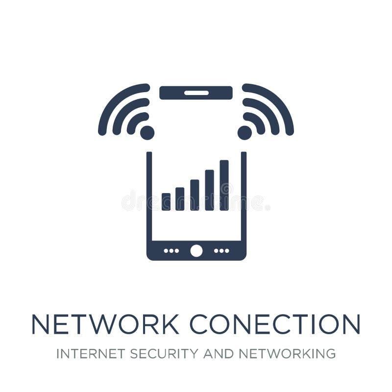icône de Conection de réseau Ico plat à la mode de Conection de réseau de vecteur illustration de vecteur
