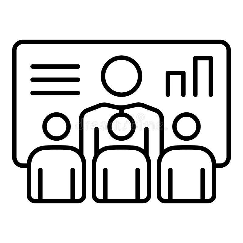 Icône de conférence d'affaires, style d'ensemble illustration de vecteur