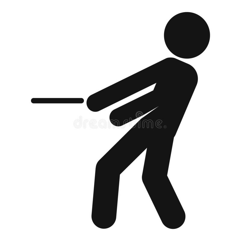 Icône de conflit d'affaires, style simple illustration libre de droits
