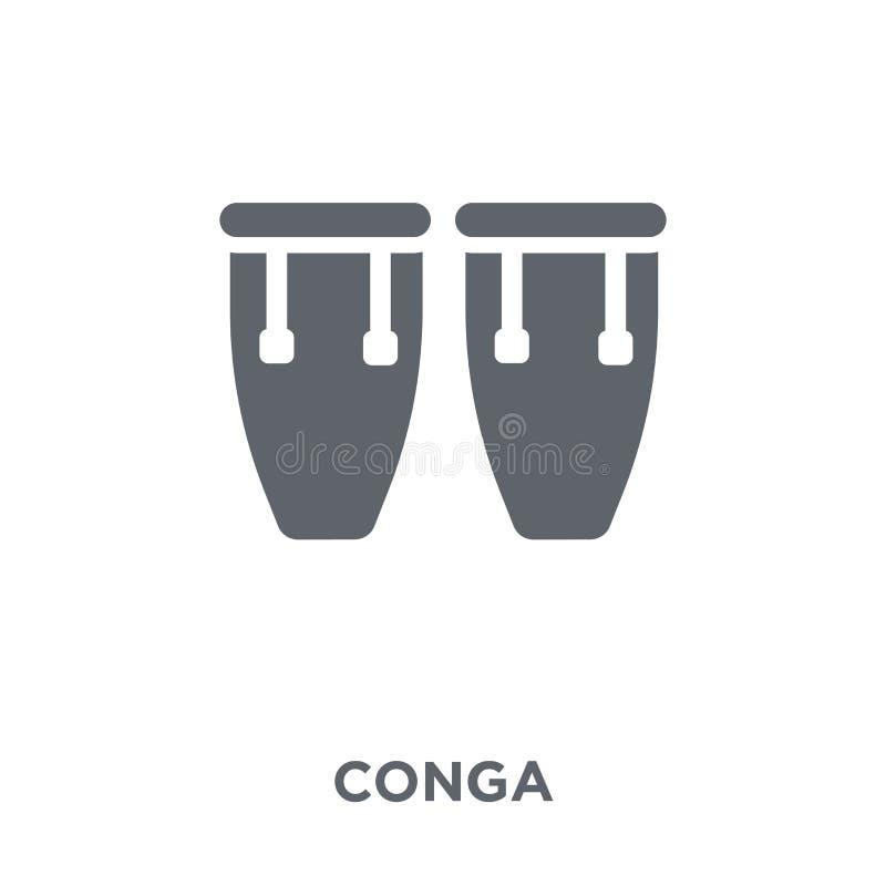Icône de Conga de collection illustration stock