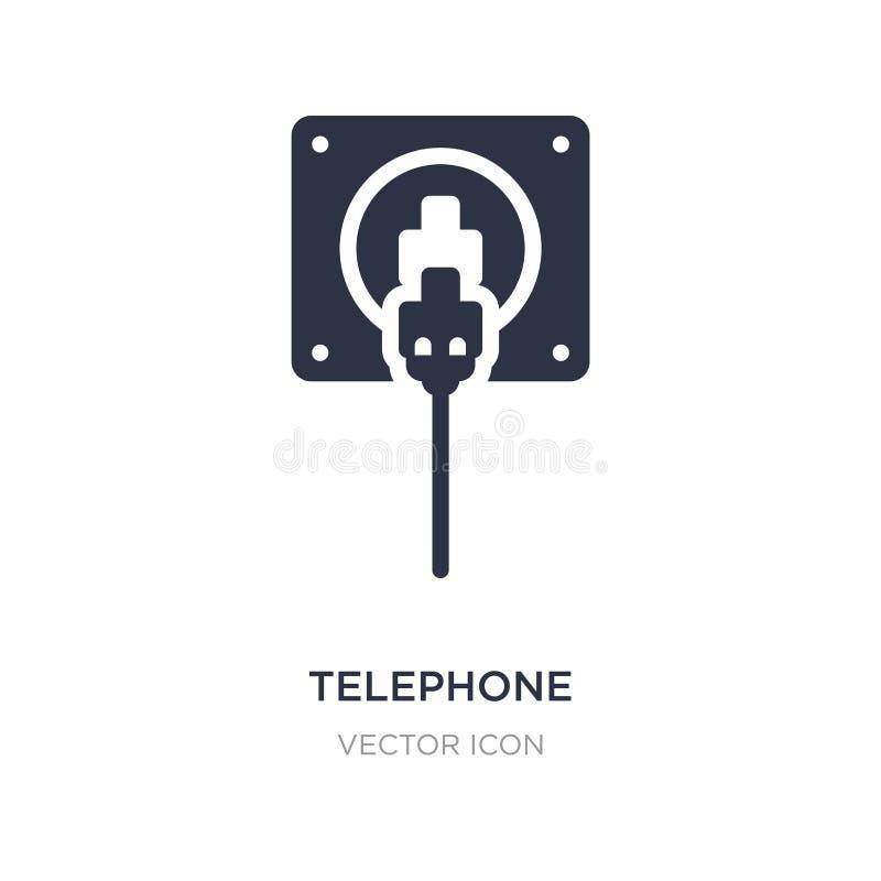 icône de connecteur de téléphone sur le fond blanc Illustration simple d'élément de concept de technologie illustration de vecteur