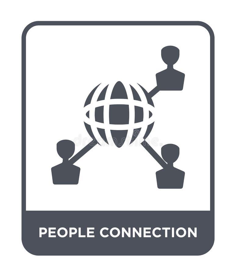icône de connexion de personnes dans le style à la mode de conception icône de connexion de personnes d'isolement sur le fond bla illustration de vecteur