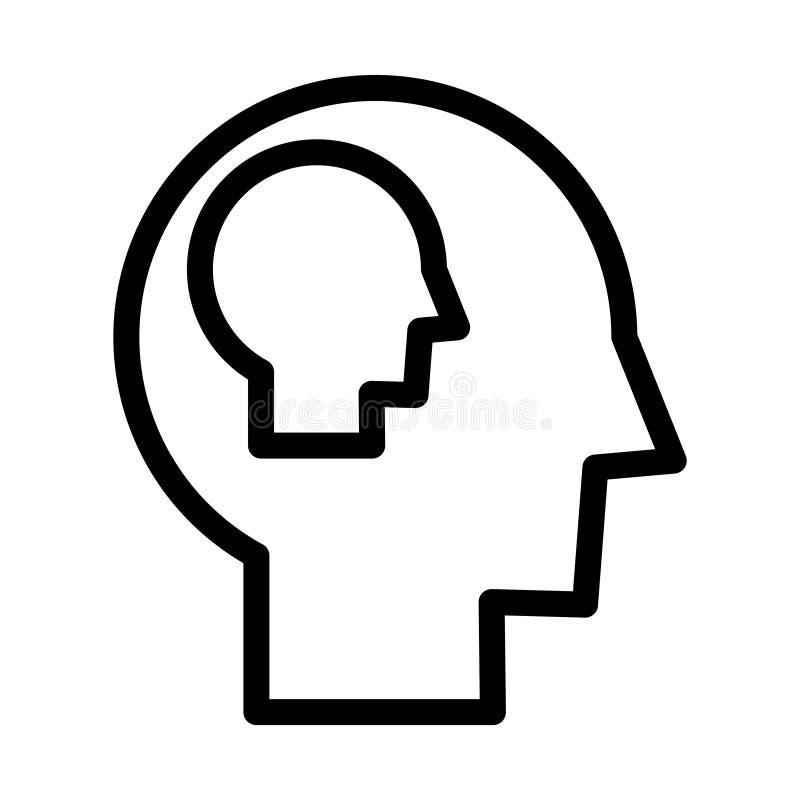 Icône de conscience de soi, illustration de vecteur illustration de vecteur