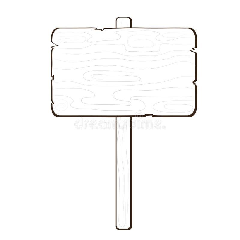Icône de conseil en bois pour l'annonce, illustration courante de vecteur illustration stock