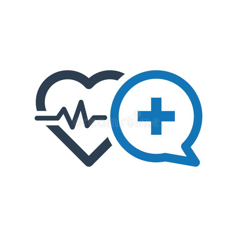 Icône de conseil de soins de santé illustration de vecteur