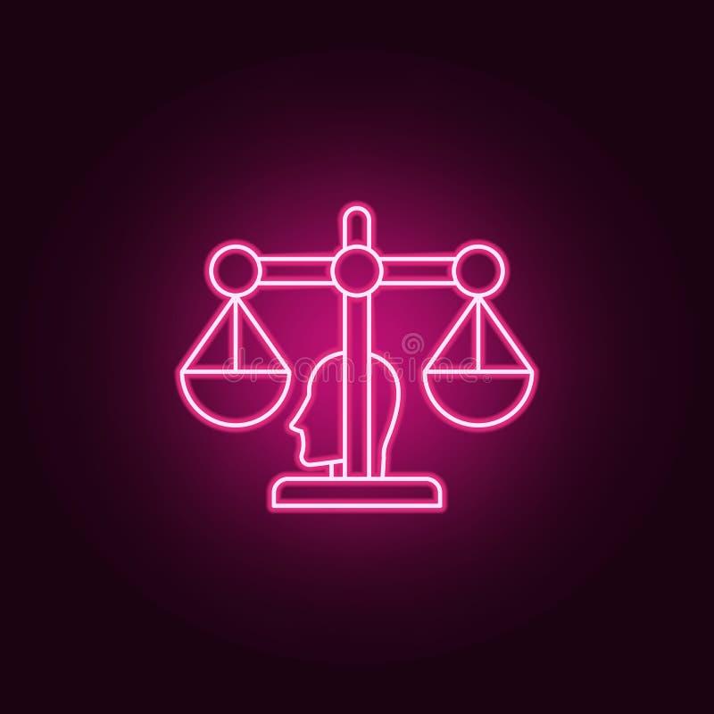 Icône de conseiller de robot Éléments d'artificiel dans les icônes au néon de style E illustration stock