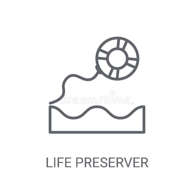 icône de conservateur de vie Concept à la mode de logo de conservateur de vie sur le blanc illustration stock