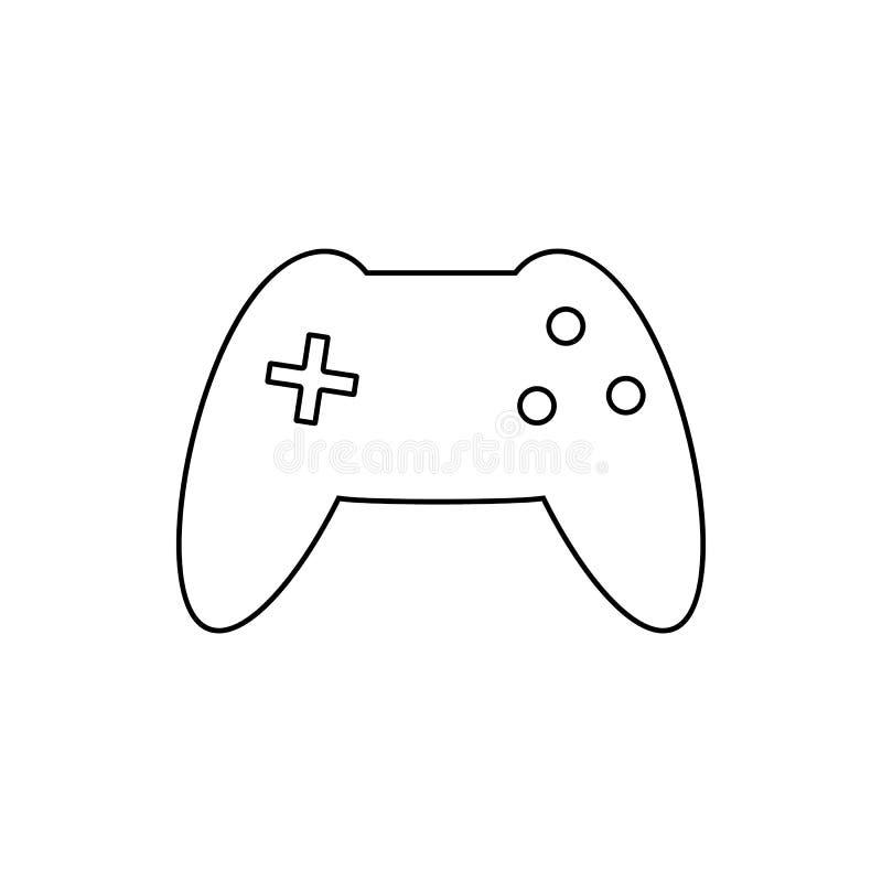 icône de console de console Élément de Web pour le concept et l'icône mobiles d'applis de Web Ligne mince icône pour la conceptio illustration libre de droits