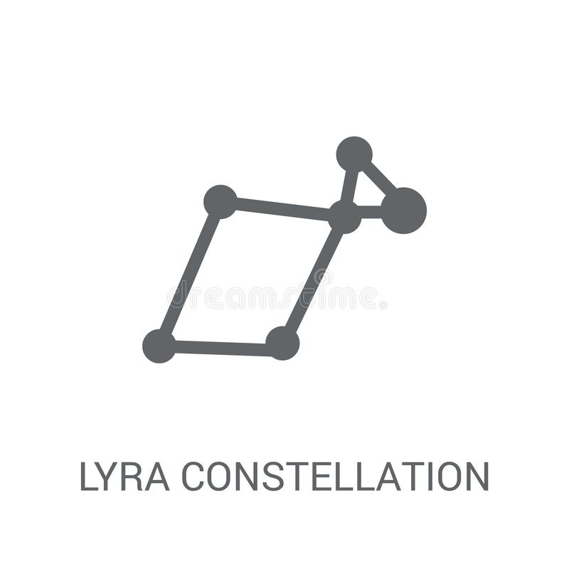 Icône de constellation de Lyra  illustration libre de droits