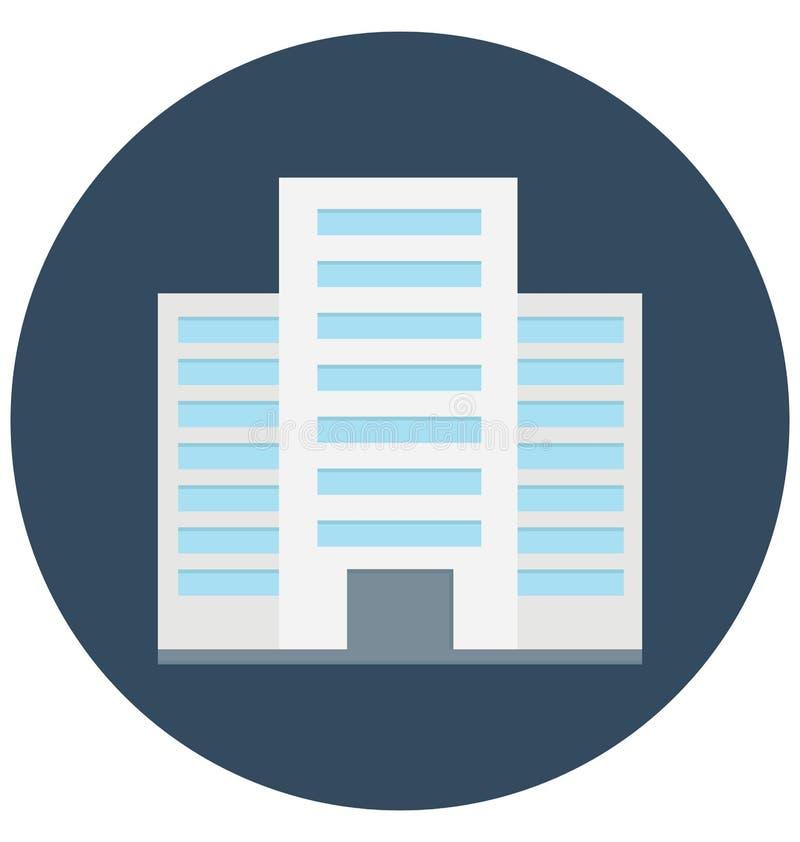 Icône de construction commerciale de vecteur de couleur qui peut être facilement modifiée ou éditée photos stock