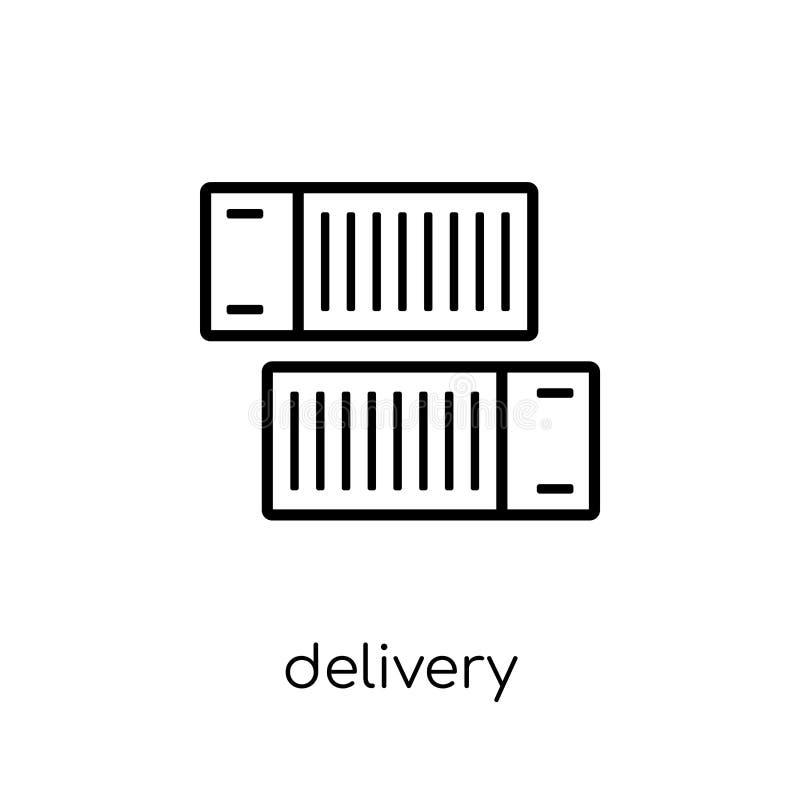 icône de conteneurs de livraison de la livraison et de la collection logistique illustration libre de droits