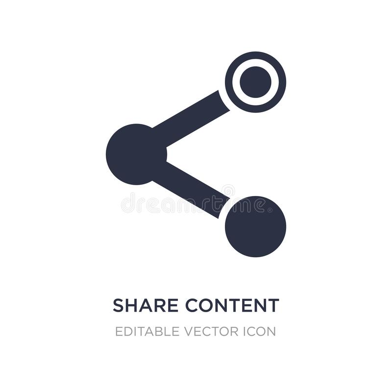 icône de contenu de part sur le fond blanc Illustration simple d'élément de concept de multimédia illustration de vecteur