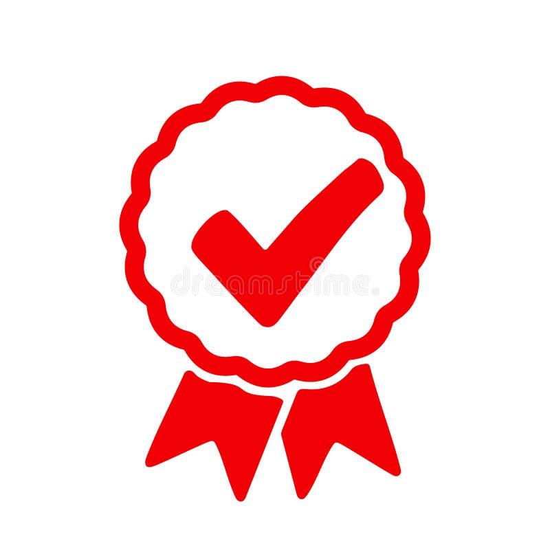 Icône de contrôle d'approbation, signe de qualité - pour des actions illustration libre de droits