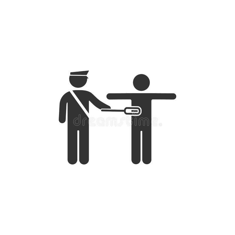 Icône de contrôle de sécurité Élément d'icône d'aéroport pour des applis mobiles de concept et de Web L'icône détaillée de contrô illustration libre de droits