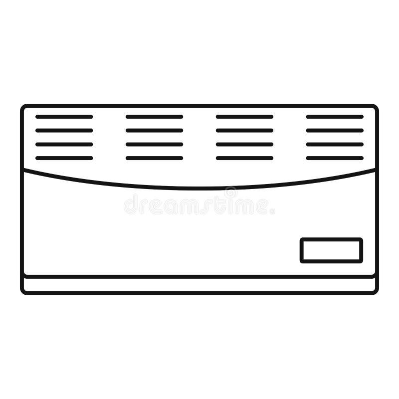 Icône de convecteur, style d'ensemble illustration libre de droits