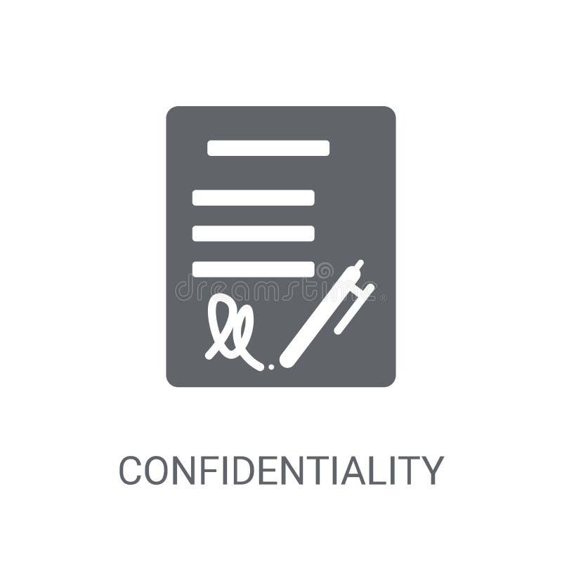 Icône de convention de confidentialité Convention de confidentialité à la mode illustration stock