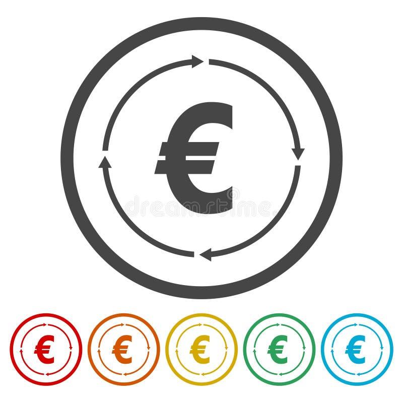 Icône de converti d'argent illustration de vecteur