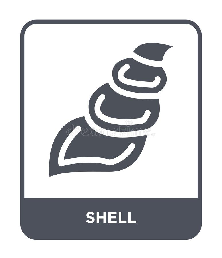 icône de coquille dans le style à la mode de conception icône de coquille d'isolement sur le fond blanc symbole plat simple et mo illustration libre de droits