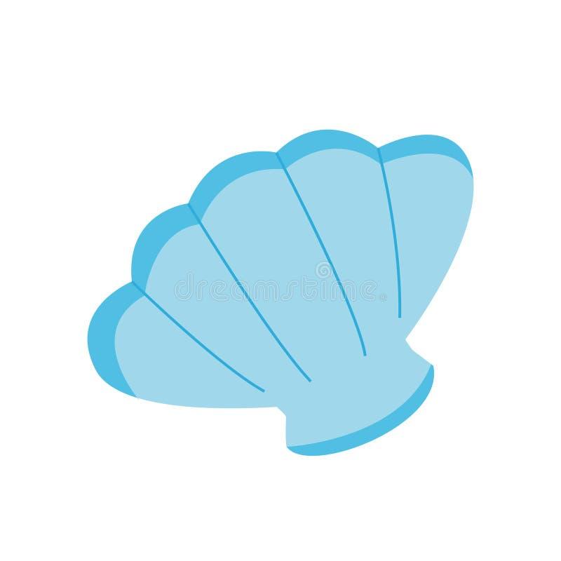 Icône de coquille de mer sur le fond blanc pour le graphique et la conception web, signe simple moderne de vecteur Internet bleu  illustration stock