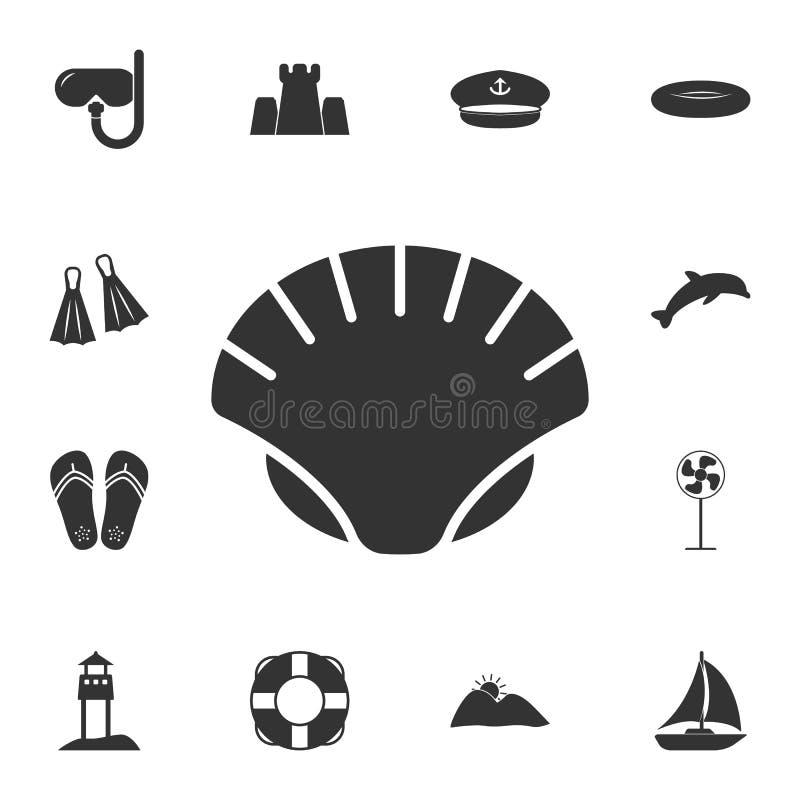 Icône de coquille de perle Ensemble détaillé d'illustrations d'été Icône de la meilleure qualité de conception graphique de quali illustration stock