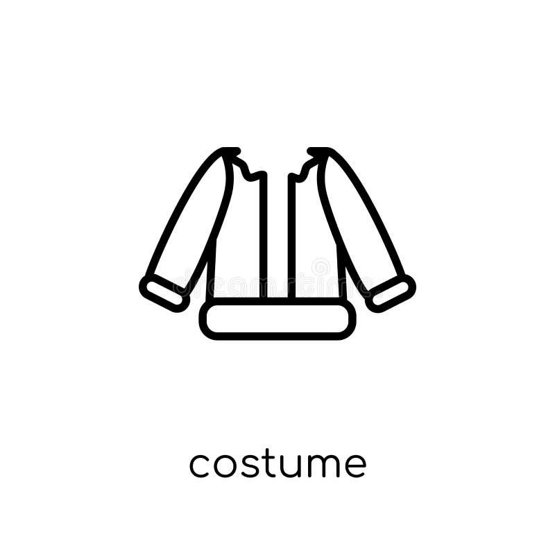 Icône de costume de collection de Noël illustration de vecteur