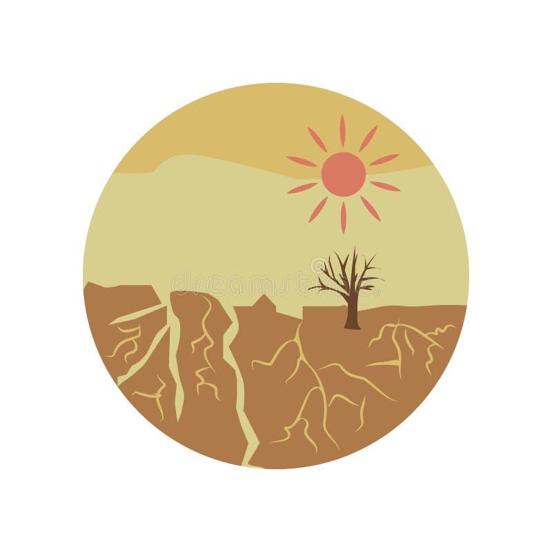 icône de couleur de catastrophe de sécheresse Élément d'illustration de réchauffement global Icône de la meilleure qualité de con illustration stock