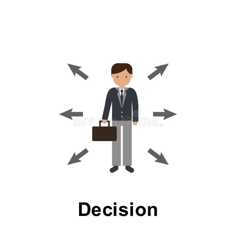 Icône de couleur de décision ?l?ment d'illustration d'affaires Ic?ne de la meilleure qualit? de conception graphique de qualit? S illustration stock