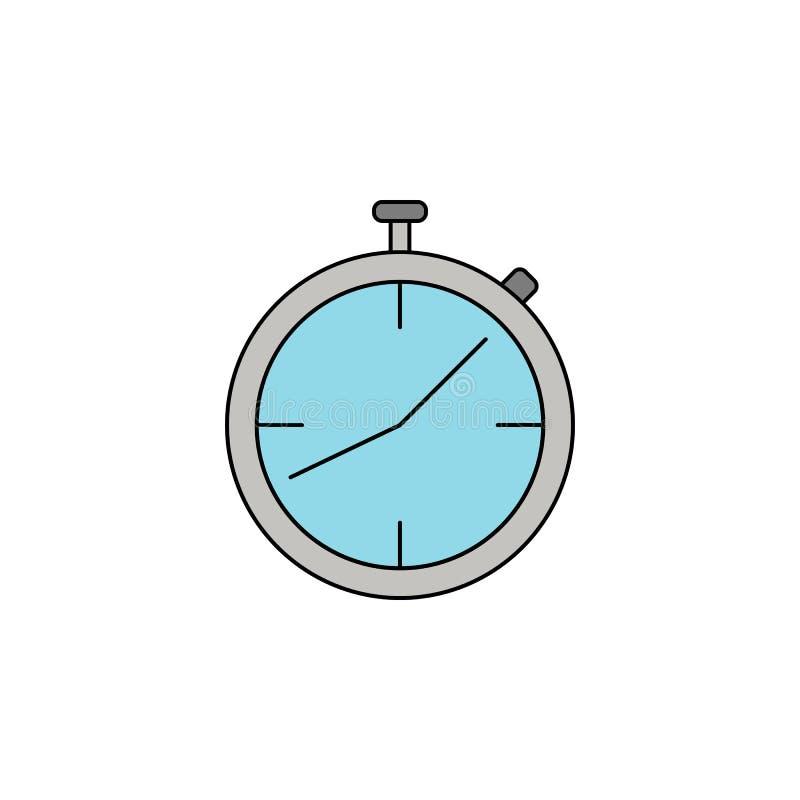 icône de couleur d'ensemble de chronomètre illustration stock