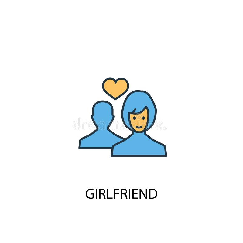 Icône de couleur Girlfriend concept 2 illustration libre de droits