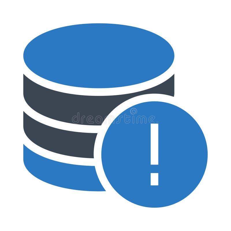 Icône de couleur de glyphs d'erreur de base de données double illustration stock