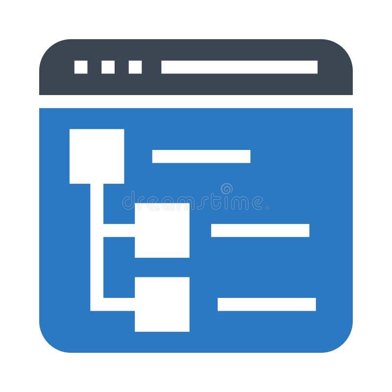 Icône de couleur de glyphs de plan du site double illustration stock