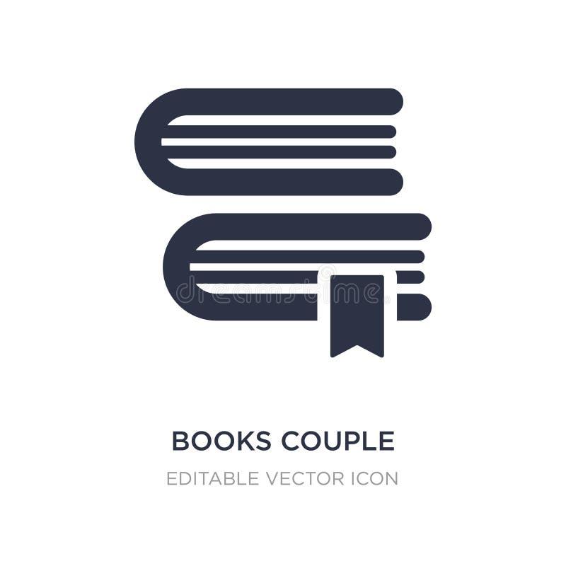icône de couples de livres sur le fond blanc Illustration simple d'élément de concept d'éducation illustration stock