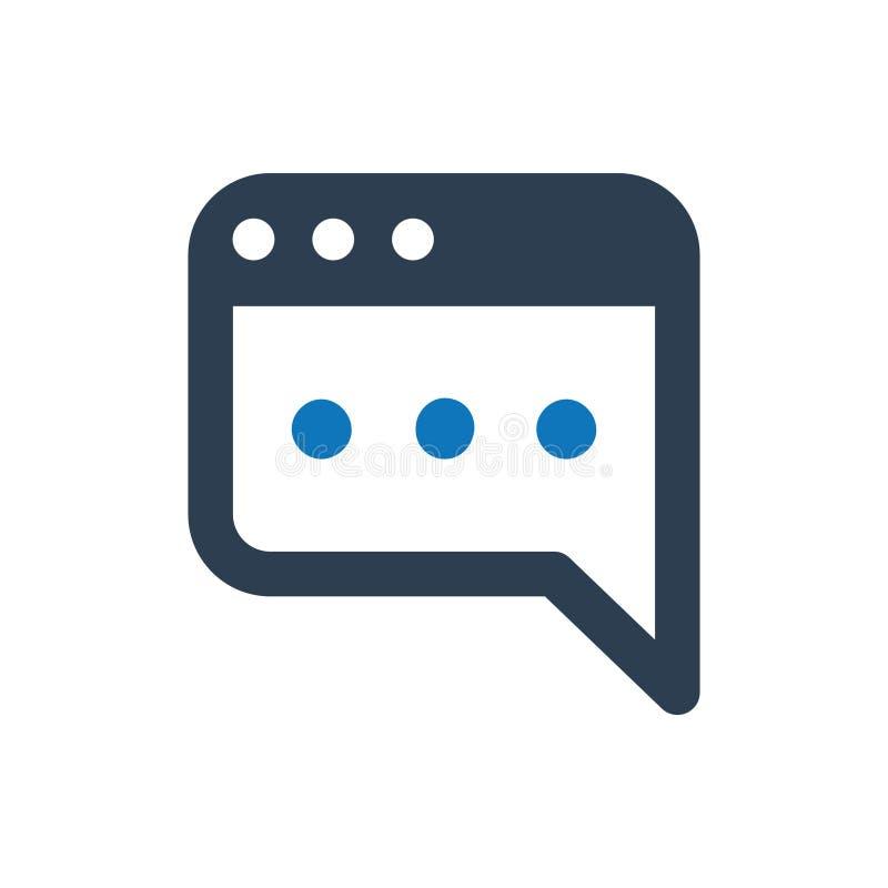 Icône de courrier de blog illustration de vecteur
