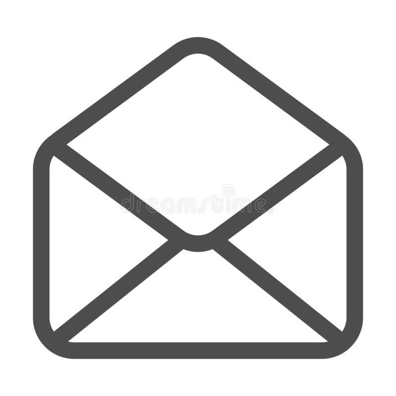 Icône de courrier et d'email d'isolement Email de symbole d'enveloppe Signe de message ?lectronique Conception plate Illustration illustration de vecteur