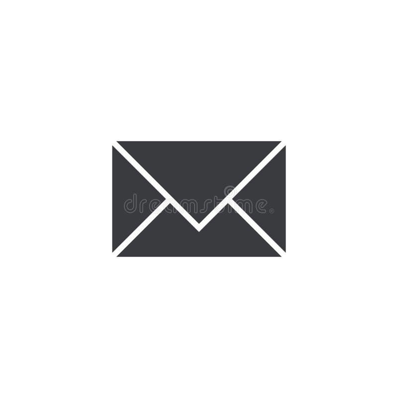 Icône de courrier de vecteur d'isolement sur le fond blanc Élément pour l'appli ou le site Web mobile d'interface de conception S illustration stock