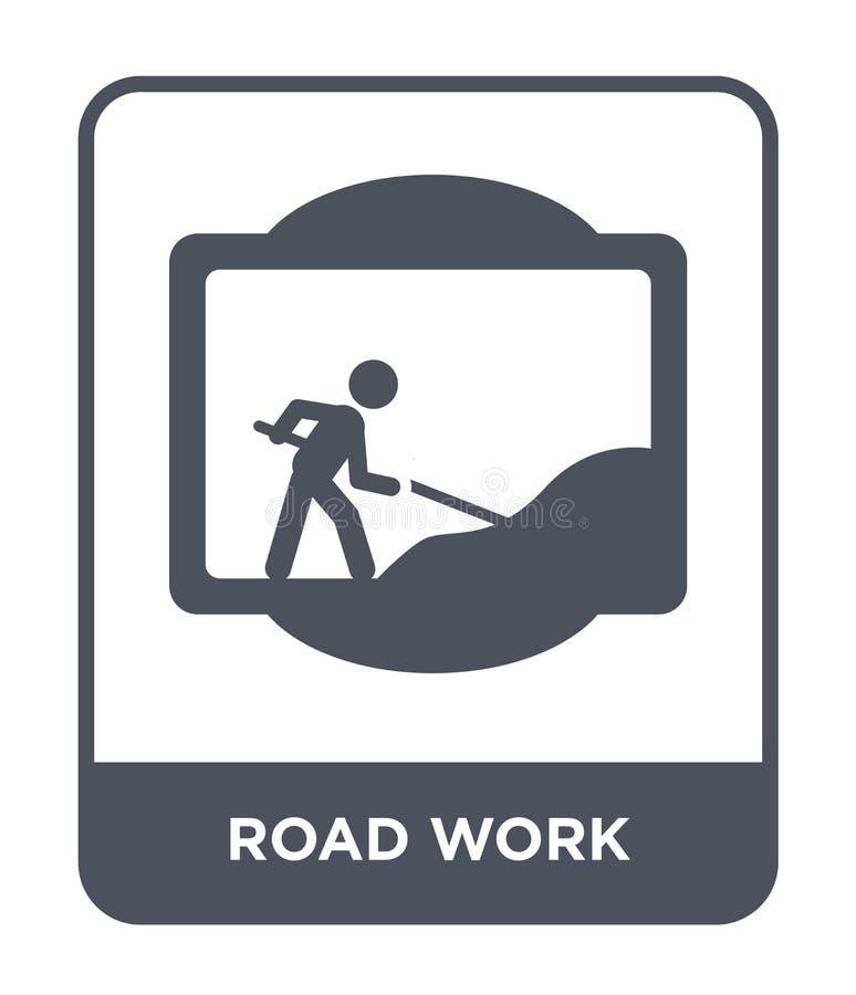 icône de course sur route dans le style à la mode de conception icône de course sur route d'isolement sur le fond blanc apparteme illustration de vecteur