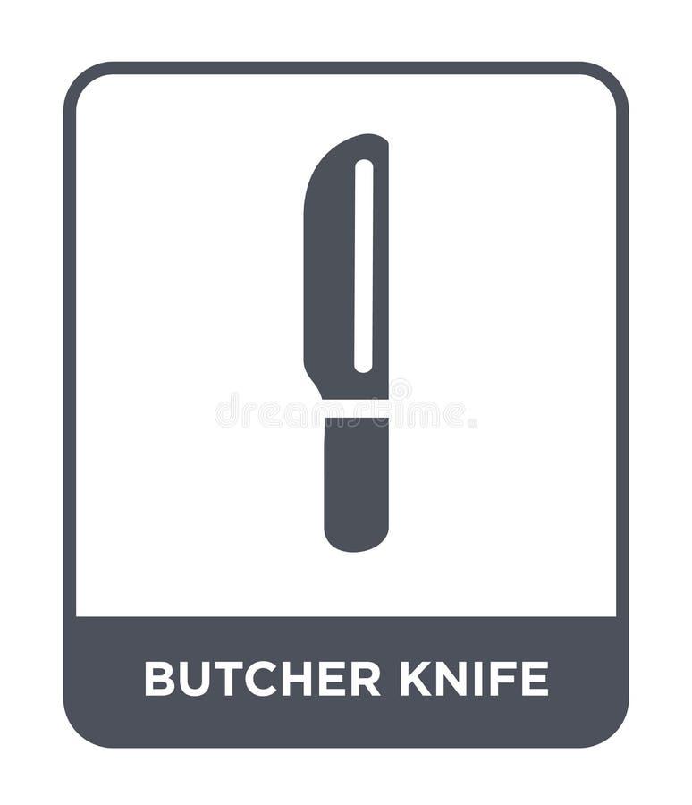 icône de couteau de boucher dans le style à la mode de conception icône de couteau de boucher d'isolement sur le fond blanc icône illustration stock