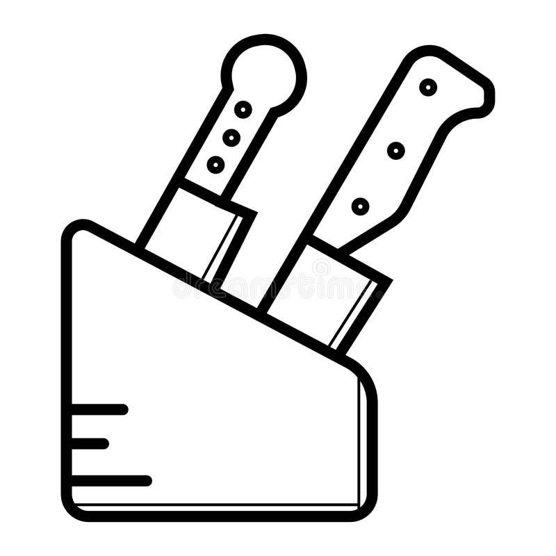 Icône de couteaux illustration libre de droits