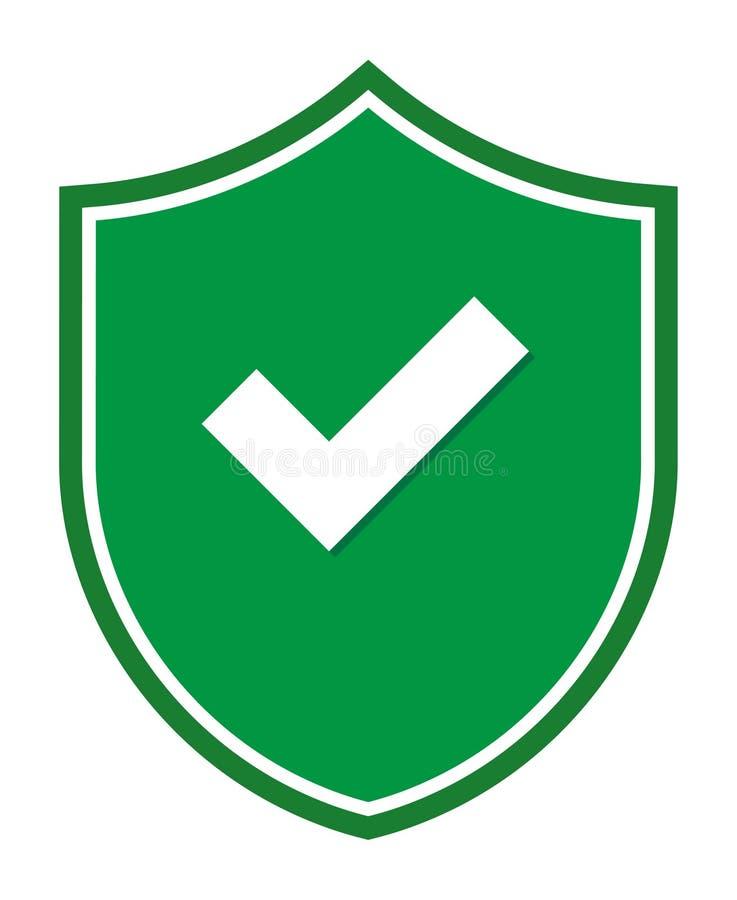 Icône de coutil de degré de sécurité de bouclier d'illustration de vecteur illustration de vecteur