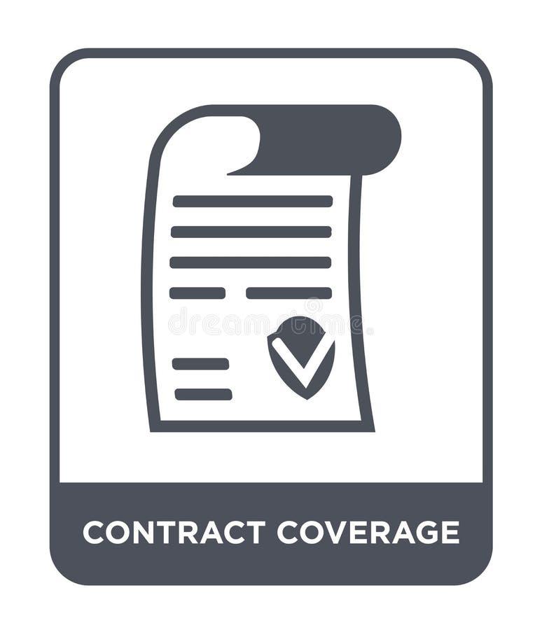 icône de couverture de contrat dans le style à la mode de conception icône de couverture de contrat d'isolement sur le fond blanc illustration libre de droits
