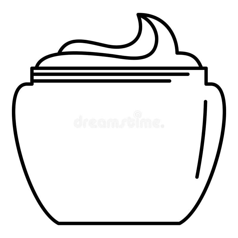Icône de crème corporelle d'aloès, style d'ensemble illustration libre de droits