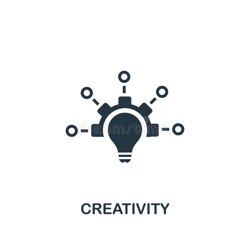 icône de créativité Conception créative d'élément de collection d'icônes de productivité E illustration stock