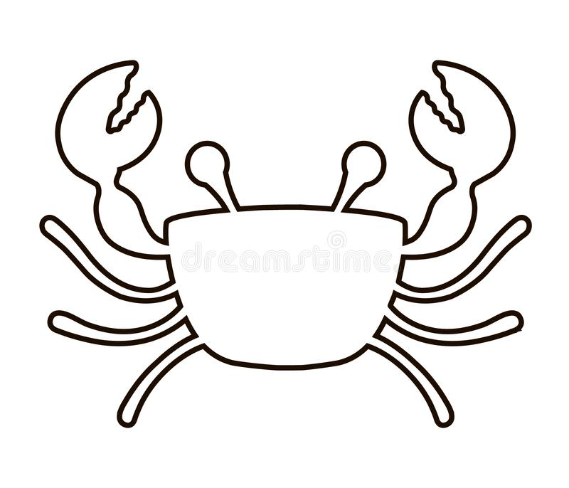 Icône de crabe sur un fond blanc illustration libre de droits