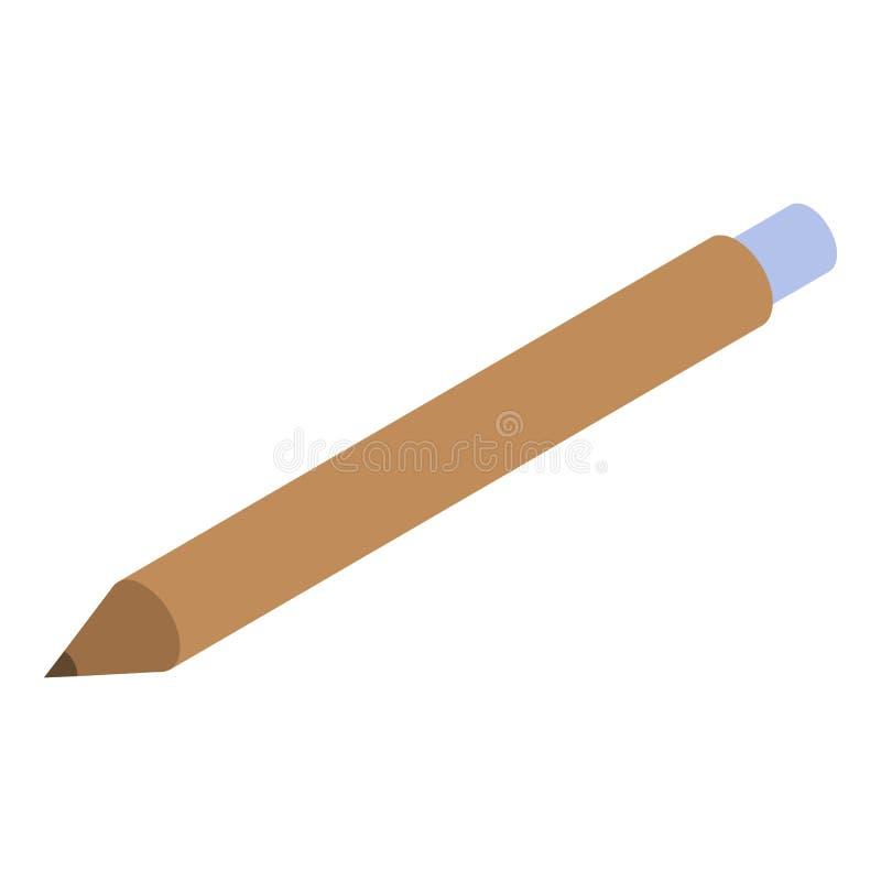 Icône de crayon d'architecte, style isométrique illustration stock