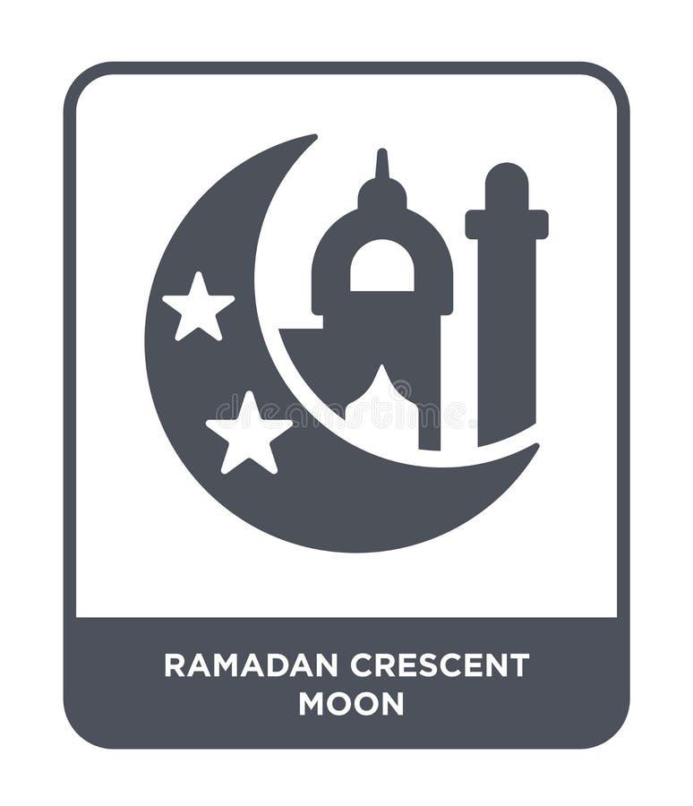 icône de croissant de lune de Ramadan dans le style à la mode de conception icône de croissant de lune de Ramadan d'isolement sur illustration stock