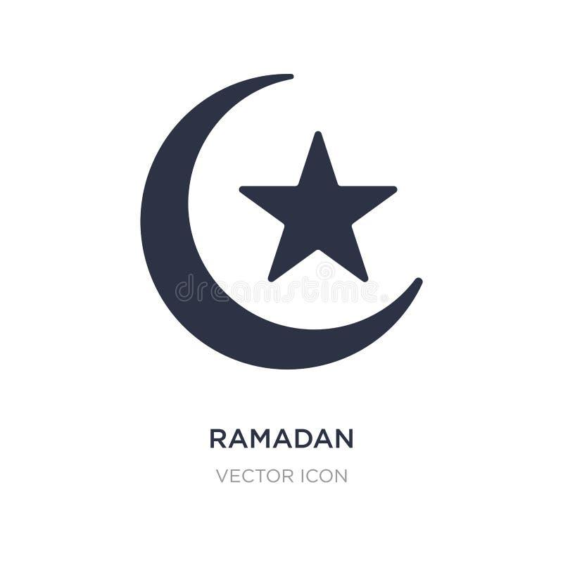icône de croissant de lune de Ramadan sur le fond blanc Illustration simple d'élément de concept de religion illustration libre de droits